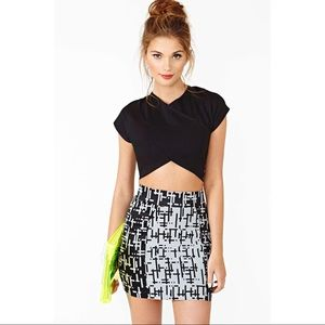 Nasty gal cross over crop top